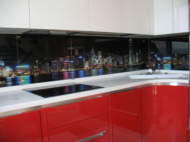 Стеклянный кухонный фартук - фото 2