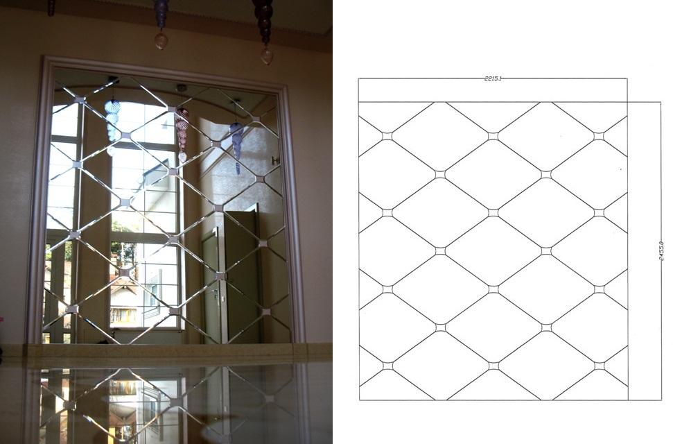 От эскизного проекта до готового зеркального панно на стене.